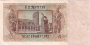 Fünfmarkschein der Reichsbank von 1942, Ro. 179, Rückseite