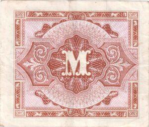 Fünfmarkschein der Alliierte Militärbehörde von 1944, Ro. 202, Rückseite
