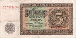 Fünfmarkschein der DDR von 1948, Vorderseite