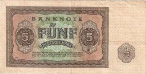 Fünfmarkschein der DDR von 1948, Rückseite