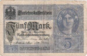 Deutsches Reich: Darlehnskassenschein von 1917, Ro. 54, Vorderseite