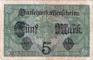 Deutsches Reich: Darlehnskassenschein von 1917, Ro. 54, Rückseite
