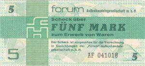 1979 Fünfmarkschein DDR-Forumscheck, Ro. 369