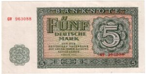 Fünfmarkschein der DDR von 1955, Ro. 349