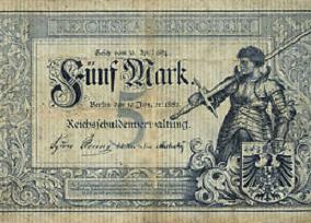 Fünfmarkschein 1882